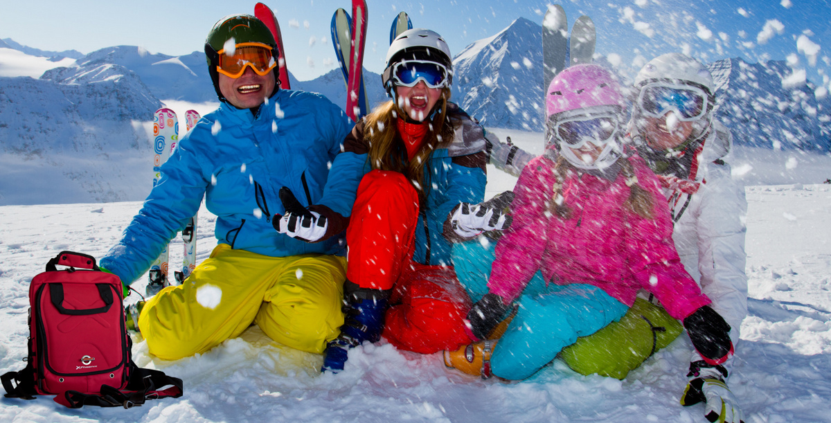 Ski, snow, sun and winter fun