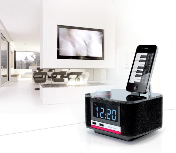 despertador, cargador, radio